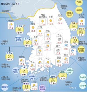 [일기예보]기상청 전국 오늘의 날씨 및 내일 예보!